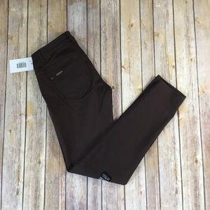 Low rise skinny brown jeans